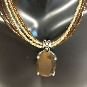 Beautiful mult string stone necklace